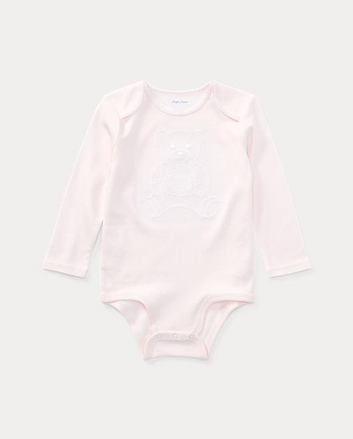 c5aece4e4 Embroidered Polo Bear Bodysuit | Ralph Lauren UK