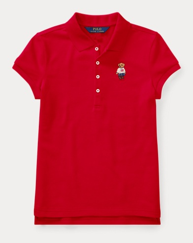 Polo Bear en piqué stretch