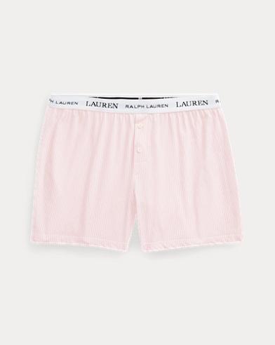 Short de pyjama rayé en coton