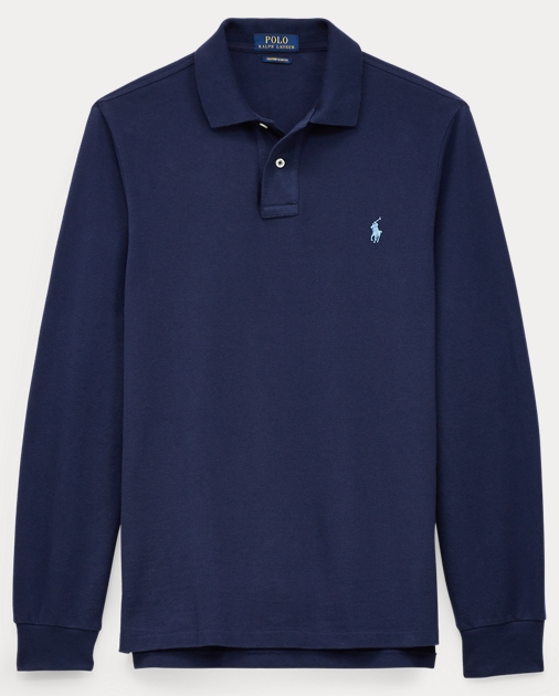 206b490d4cf1 Custom Slim Long-Sleeve Polo | Ralph Lauren UK
