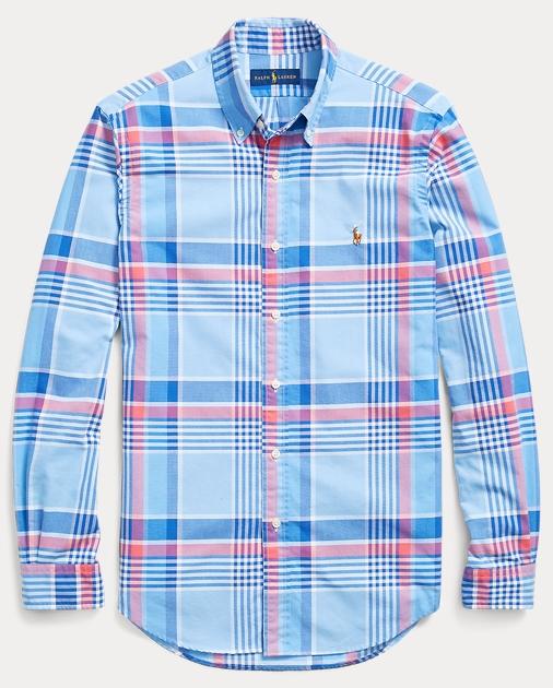91ed54c4 Polo Ralph Lauren Classic Fit Plaid Oxford Shirt 1