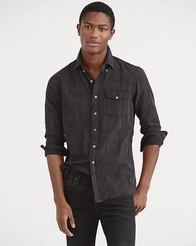 Classic Fit Woven Camo Shirt
