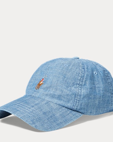 Chambray Sports Cap. Polo Ralph Lauren c3ccfeb4ec4