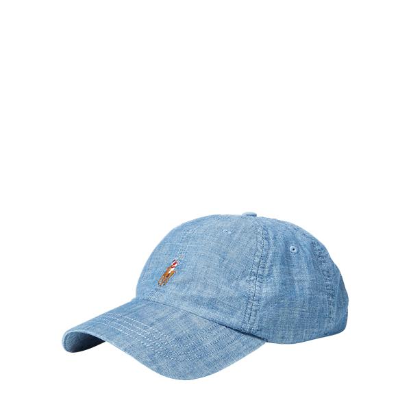 Ralph Lauren Cotton Sports Cap Chambray One Size