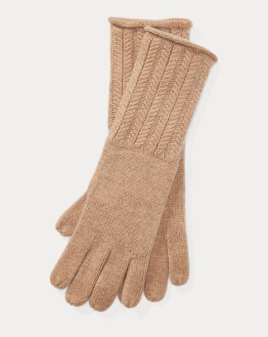 Wool-Blend Herringbone Gloves