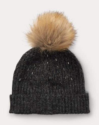 72d469f440e Rhinestone Rib-Knit Hat