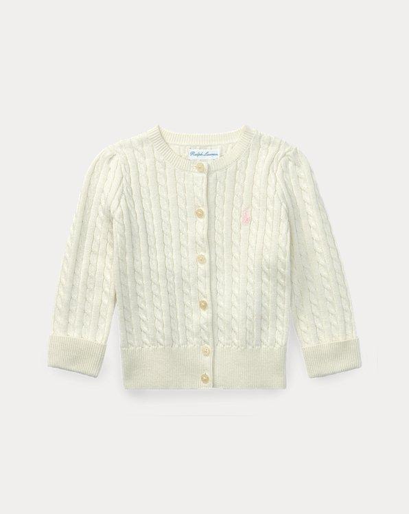Cárdigan de algodón de punto trenzado