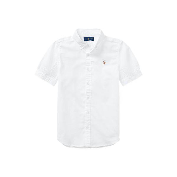 폴로 랄프로렌 걸즈 옥스포드 셔츠 Polo Ralph Lauren Oxford Shirt,White