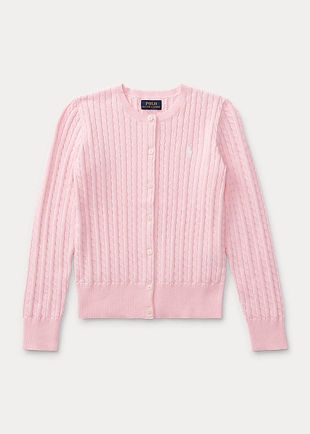 Polo RalphLauren Mini-Cable Cotton Cardigan