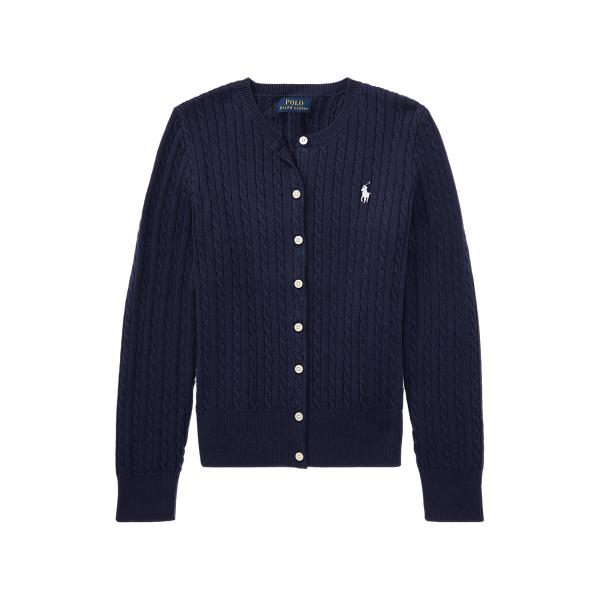 폴로 랄프로렌 걸즈 미니 꽈배기 코튼 가디건 411539 Polo Ralph Lauren Mini Cable Cotton Cardigan, Hunter Navy