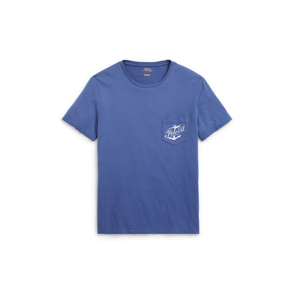 Ralph Lauren Custom Slim Fit Cotton T-Shirt Freshwater Xxl