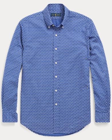 Slim Fit Geometric-Print Shirt