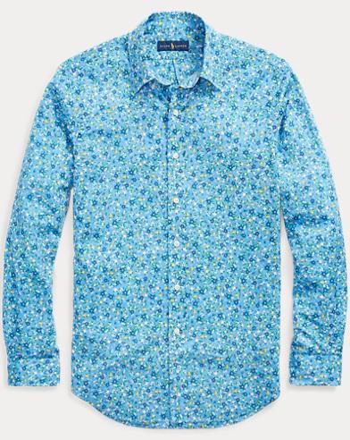 Slim Fit Floral Poplin Shirt