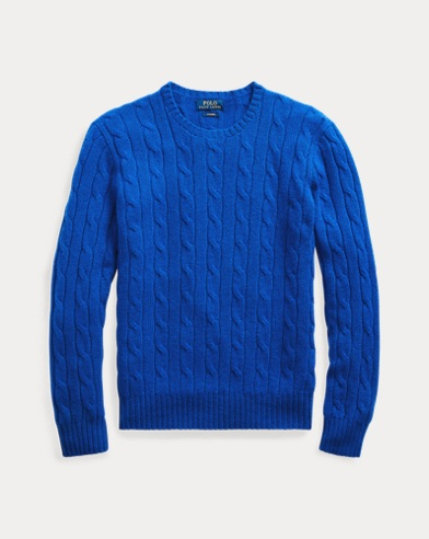 b0cd20e5617482 Cable-Knit Cashmere Sweater