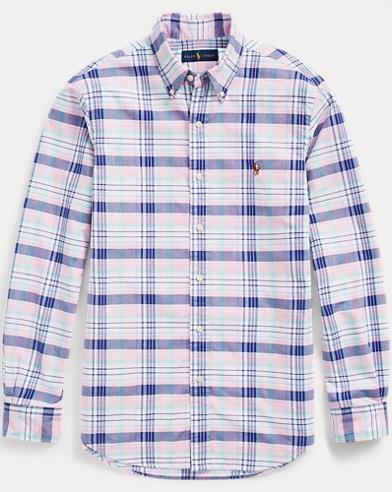 Kariertes Slim-Fit Oxfordhemd