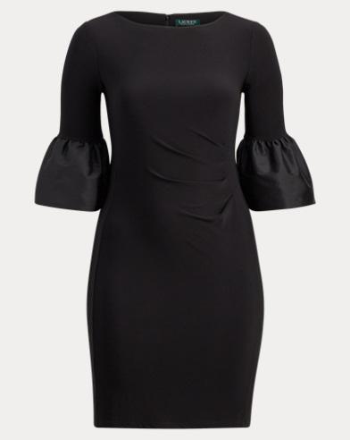 Taffeta-Jersey Dress
