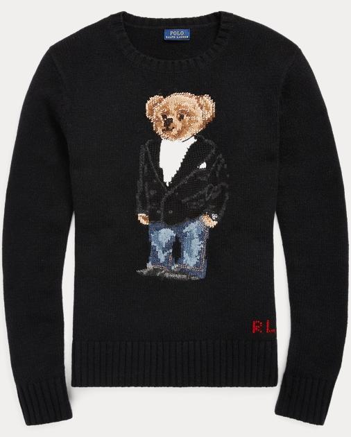 3b8b4cb4a Polo Ralph Lauren Tuxedo Bear Wool Sweater 1