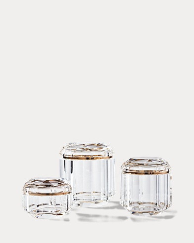 Leigh Tall Clear Crystal Jar