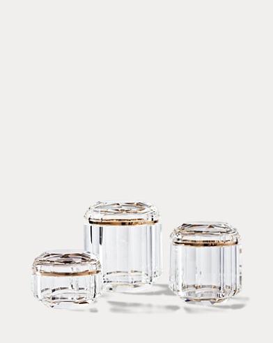 Bote alto de cristal transparente Leigh
