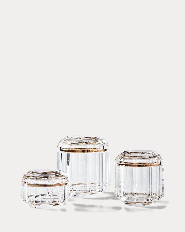 Boîte décorative Leigh en cristal