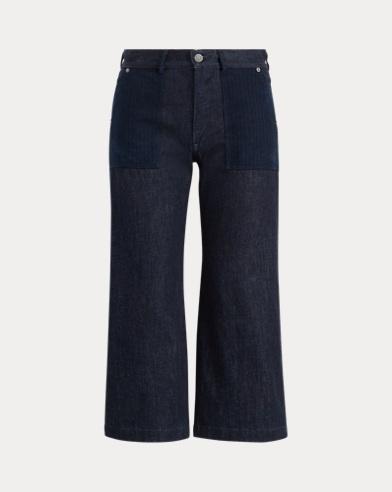 Cropped Wide-Leg Jean