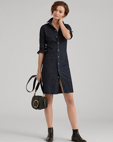 Stretch Denim Shirtdress