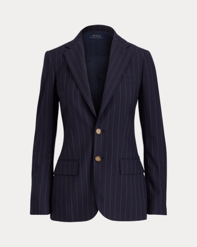 Pinstripe Wool Jacket