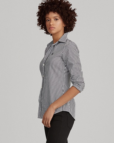 Camicia aderente a righe Slim-Fit