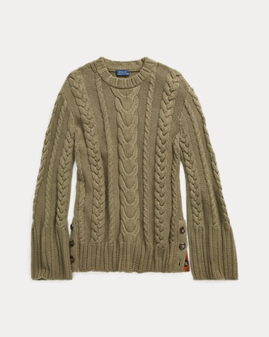 Cable Cotton Dolman Sweater