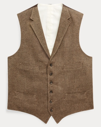 Basket-Weave Linen Vest