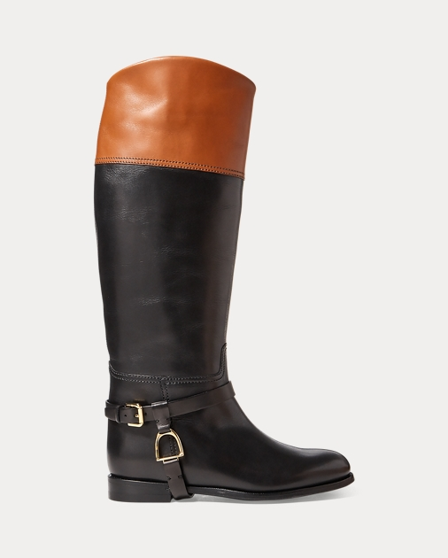 Ralph Lauren Sade Burnished Calfskin Boot 1