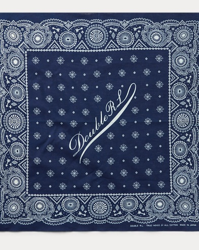 Indigo Cotton Bandanna