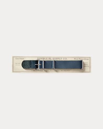 Indigo Leather Watch Strap