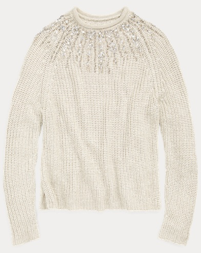 Beaded Rollneck Sweater