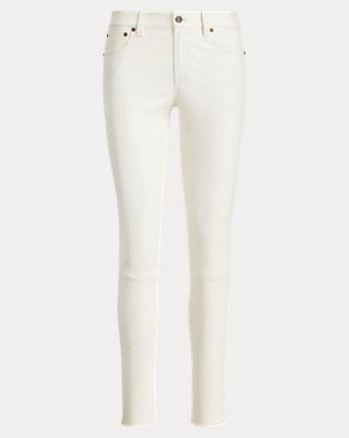 Pantaloni skinny in pelle stretch