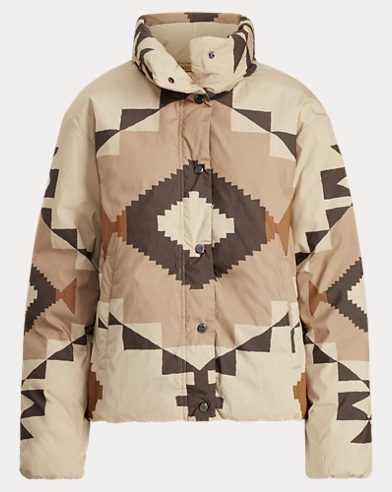 Geometric Down Jacket