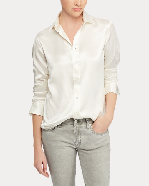 ab87680b3f Polo Ralph Lauren Silk Charmeuse Shirt 3
