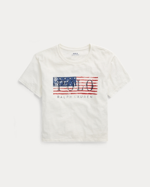 e0e316512c2 Polo Ralph Lauren Cropped Polo Flag T-Shirt 1