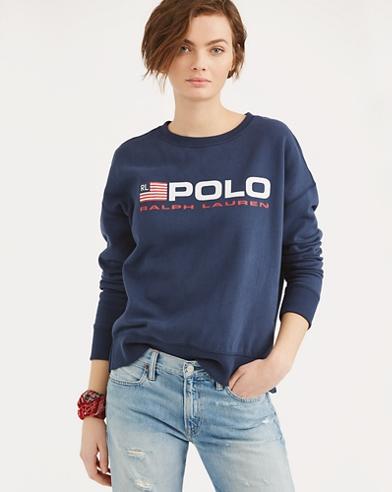 Fleece Polo Sweatshirt