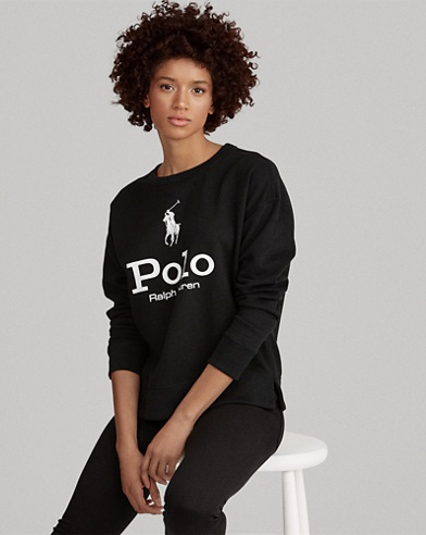 Polo Sweatshirt aus Fleece