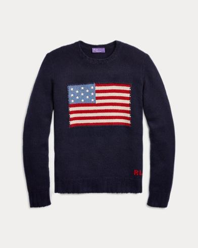 Flag Cashmere Crewneck Sweater