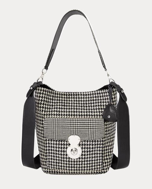 The Houndstooth RL Bucket Bag | Hobos \u0026 Shoulder Bags Handbags | Ralph  Lauren
