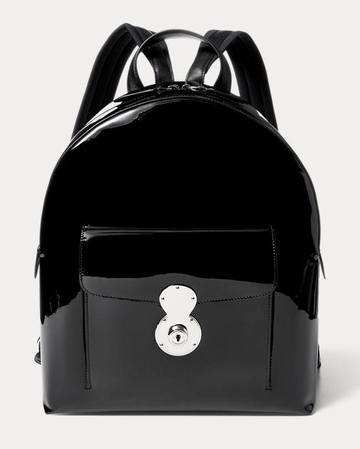 3eeda648c3 Ralph Lauren Patent Leather Ricky Backpack 1