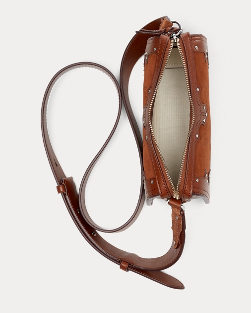 0396f2917 Polo Ralph Lauren Western Suede Crossbody Bag 4