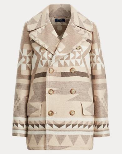 Geometric Wool Peacoat