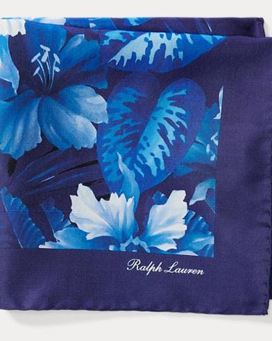 Pochette in seta a fiori