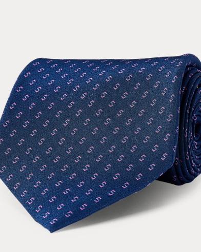 Cravatta in crêpe di seta stampata