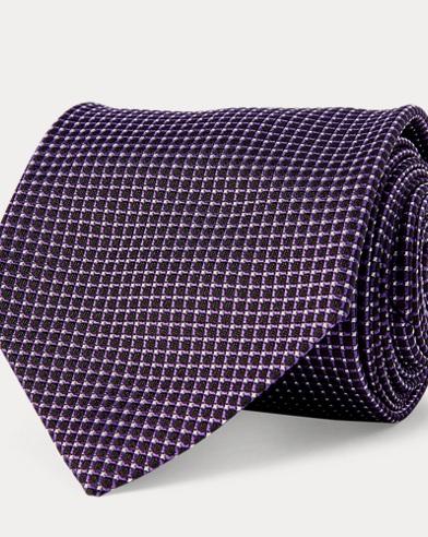 Cravatta jacquard di seta a rete