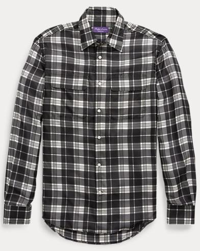 Plaid Silk Shirt