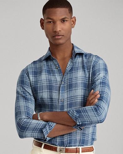 Karo-Hemd aus Leinen
